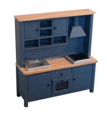 Küchenblock All-in-one Kitchen System Blue/Pine