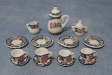 Tee-Set mit Blumenmuster Heavy Floral Tea Set