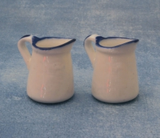 blau-weiße Krüge blue & white Jugs