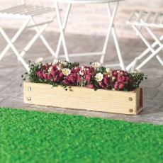 Blumenkasten mit rosa Blumen Window Box pink flowers