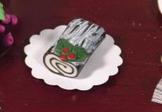 Schokoladen-Rolle Chocolate Yule Log