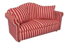Sofa mit Kissen rot-gestreift Modern Red Stripe Sofa