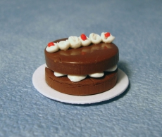 Schoko-Kuchen mit Sahnestreifen Cream Stripe Choc Cake