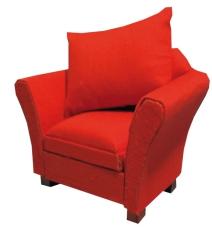 Sessel mit Kissen rot / Modern red Armchair