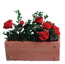 Blumenkasten mit roten Rosen Window Box with red Roses