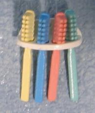 Zahnbürsten mit Halter Toothbrushes & rack