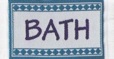 Badematte türkisblau, Bathmath blue