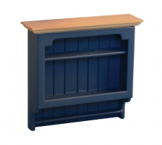 Shaker-style Wandregal Wall Shelves Blue/Pine