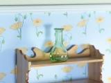 grüne Glasvase green glass Vase/Decanter