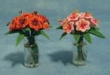 Lilien in Glasvase Lilies in Glas Vase