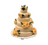 gelbe Hochzeitstorte Yellow Rose Wedding Cake