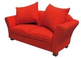 Sofa mit Kissen rot Modern red Sofa