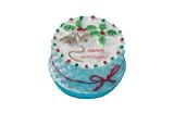 runder Weihnachtskuchen Round Christmas Cake