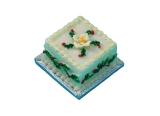 Weihnachtskuchen, quadrastisch Square Christmas Cake