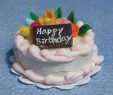 Geburtstagskuchen Pink Icing Birthday Cake
