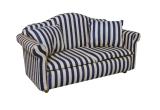 Sofa mit Kissen blau-gestreift Modern Blue Stripe Sofa