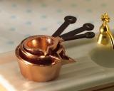 3 kupferfarbene Töpfe/Kasserollen Copper Painted Pans