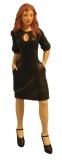junge Frau mit schwarzem Kleid Modern Woman in Black Dress