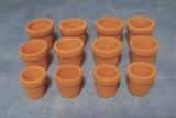 12 Terracotta Pflanztöpfe Flower Pots
