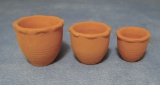 3 Terracotta Pflanztöpfe Flower Pots