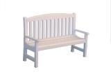 Weiße Gartenbank White Garden Bench