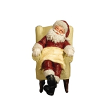 Weihnachtsmann Nikolaus schlafend Sleeping Santa in chair
