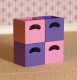 rose und Lila Boxen Rose & Lilac Storage Boxes