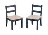 2 Küchenstühle Modern Chairs Blue/Pine