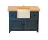 Shaker-style Sink Unit Blue/Pine